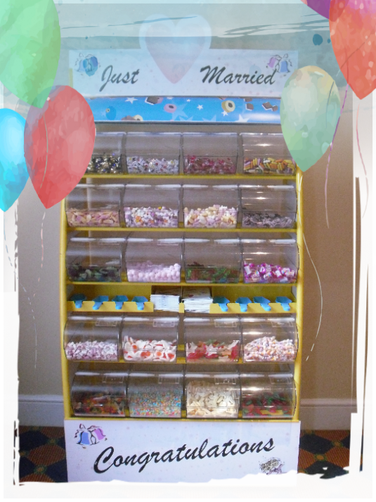 rent a sweet stand for wedding reception
