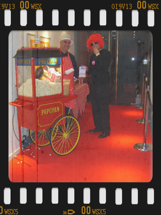 popcorn machine hire for cinema showing