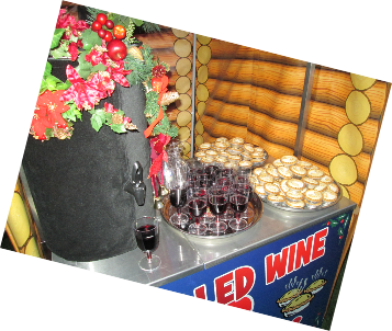 Mulled wine and mince pie vendor cart