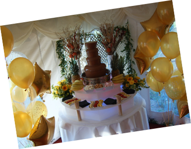 chocolate fountain hire wedding reception