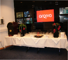 corporate chritmas mulled wine table