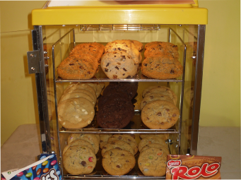 cookie warming cabinet