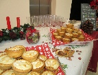 mince pies at reception