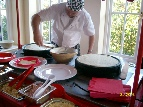 home wedding crepe chef