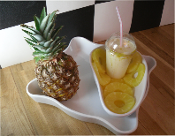 ctrushed pineapple milkshake